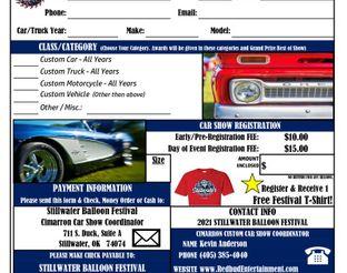 2021 Car Show Registration Form