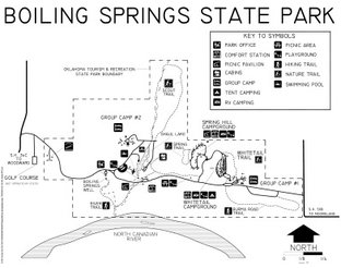 Boiling Springs State Park Map