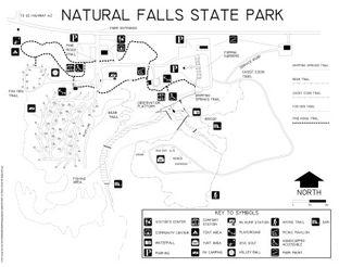 Natural Falls Park and Trail Map