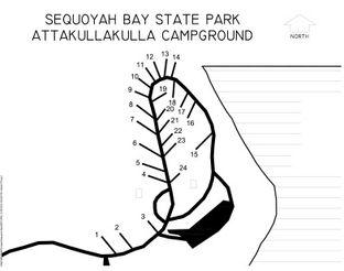 Sequoyah Bay Attakullakulla Campground Map.