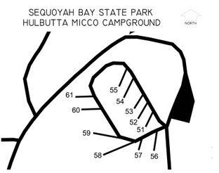 Sequoyah Bay Hulbutta Micco Campground Map.