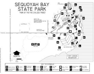 Sequoyah Bay Park Map.