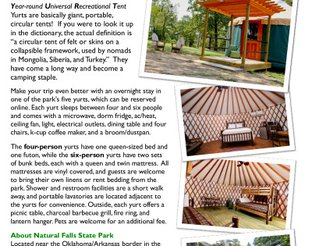 Information about the Yurts