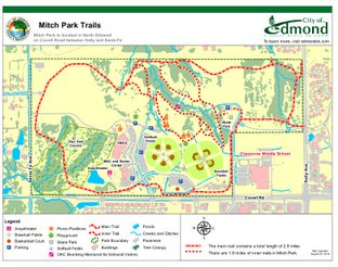Mitch Park trail map.