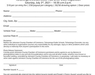 Truck & Car Show Entry Form