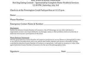 Hot Dog Eating Contest Entry Form