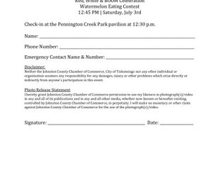 Watermelon Eating Contest Form