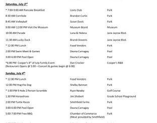 Laverne 4th of July Celebration Schedule 2021