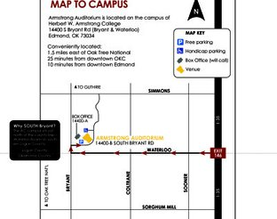 View Map to Armstrong Auditorium