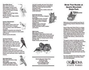 Birding Map - Quartz Mountain State Park