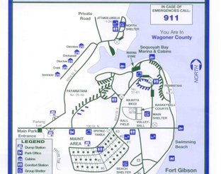 View Sequoyah Bay State Park Map