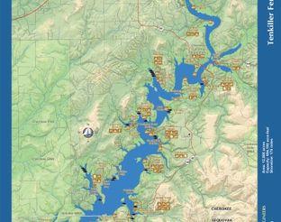 View Lake Tenkiller Map