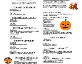 Fall Break Activities - Driftwood Nature Center