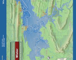 View Lake Wister Map