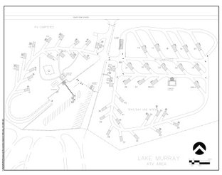 View Map of Lake Murray ATV Campground Area