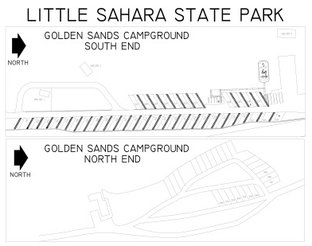 View Golden Sands Campground Map