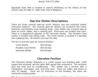 Shelter & Pavilion Information