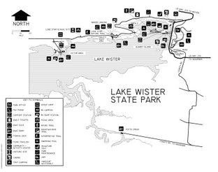View Lake Wister State Park Map