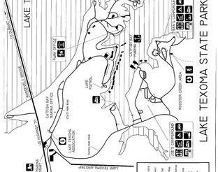 View Lake Texoma State Park Map