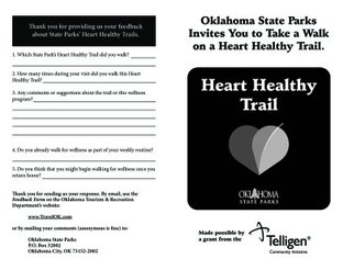 Alabaster Caverns State Park - Heart Healthy Trail Booklet