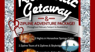 """Two-Night Romantic Getaway & Zipline Adventure Package"""""""