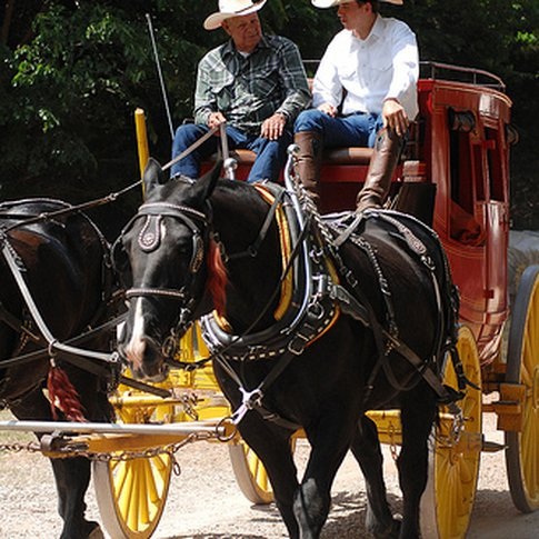 Stagecoach rides are one of the favorite activities for kids of all ages at the annual Chuck Wagon Gathering & Children's Cowboy Festival in Oklahoma City. This event is held each May on the grounds of the renowned National Cowboy & Western Heritage Museum.