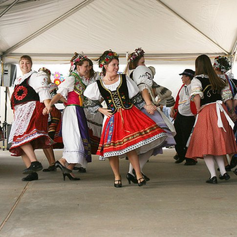Traditional dance performances celebrate Czech heritage during the annual Oklahoma Czech Festival in Yukon.