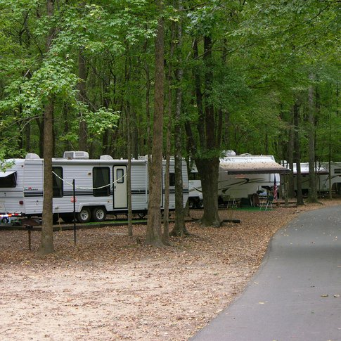 The Beavers Bend State Park RV campground offers parkgoers scenic and cozy sites under towering pines and hardwood trees.