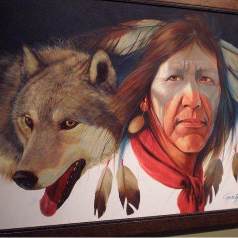 One of the many original works of art on display at the Seminole Nation Museum in Wewoka.