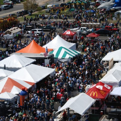 Thousands of visitors pack the streets during Muskogee's annual Exchange Club Chili & BBQ Cook-Off to sample chili, baked beans, brisket and pork spare ribs drenched in barbecue sauce.