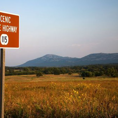 The Wichita Mountains Scenic Byway in southwest Oklahoma is a virtual paradise for motorcyclists and road bikers.