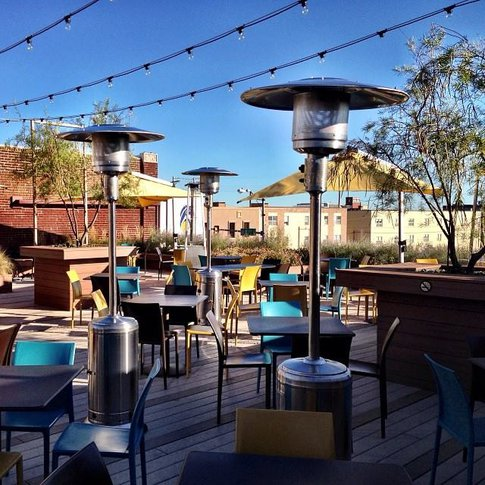 Day or night, the patio at Packard's New American Kitchen in Oklahoma City features beautiful city views and tasty food.