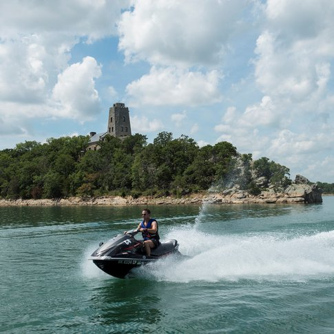 Make some serious waves at beautiful Lake Murray in southern Oklahoma.