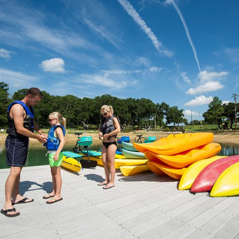 Choose a vehicle for your water adventure at Lake Murray State Park; canoes, kayaks, stand up paddleboards and paddle boats are available for rent.