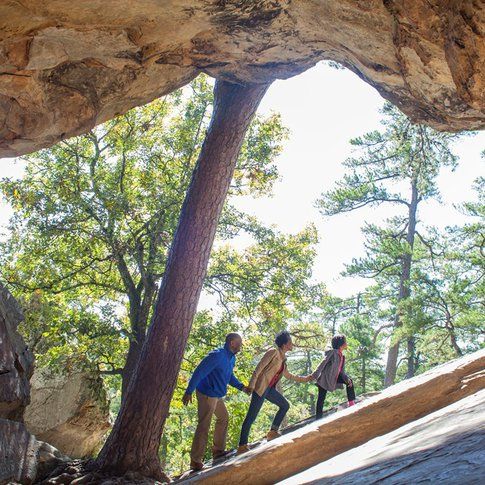 Exploring the caves at Robbers Cave State Park is an exciting adventure for all ages.