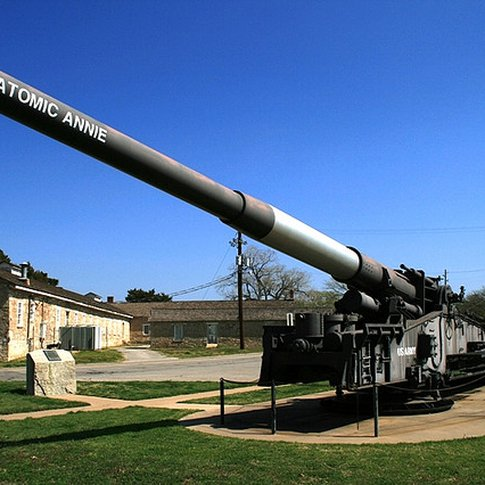 The Fort Sill National Historic Landmark is home to one of the only guns created to launch nuclear shells built in 1953 known as Atomic Annie.