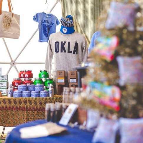 Pick up handmade wooden creations at the Holiday Pop-Up Shops in Oklahoma City during the holiday shopping season.