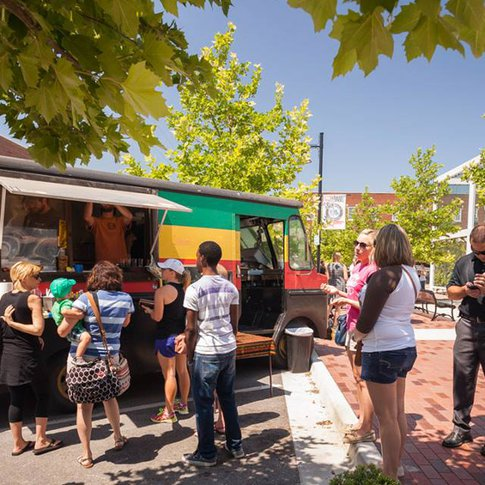 Guthrie Green serves delicious cuisine made fresh to guests at this Tulsa food truck park.