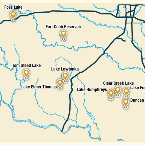 Gear up for some great angling along the Southwestern Loop of the Fishing Trail.