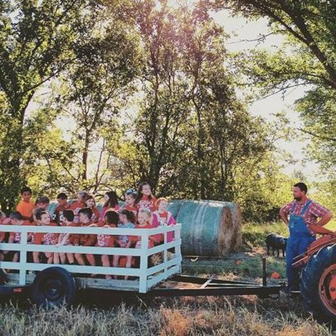 Embark on a thrilling hayride at Gibson's Farm & Produce in Afton.