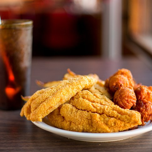 Give the house specialty a try at McGehee's Catfish Restaurant in Marietta.