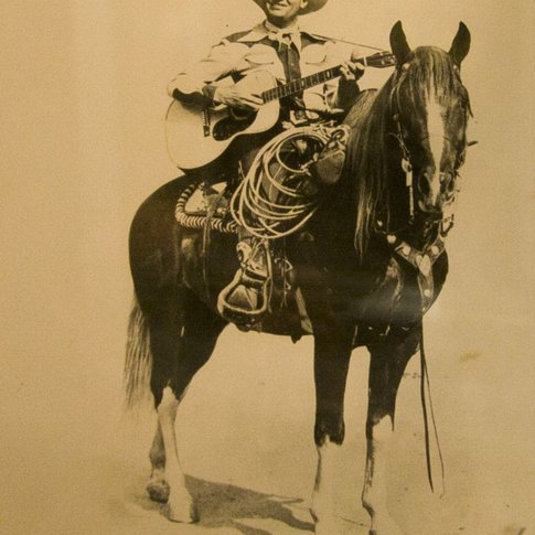 America's Favorite Singing Cowboy, Gene Autry, was often seen riding his horse, Champion.