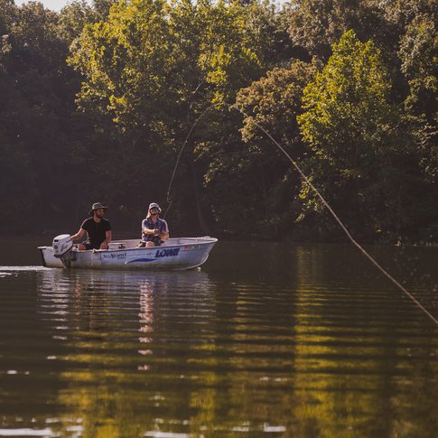 Spend a perfect fall day casting your line in Greenleaf Lake.