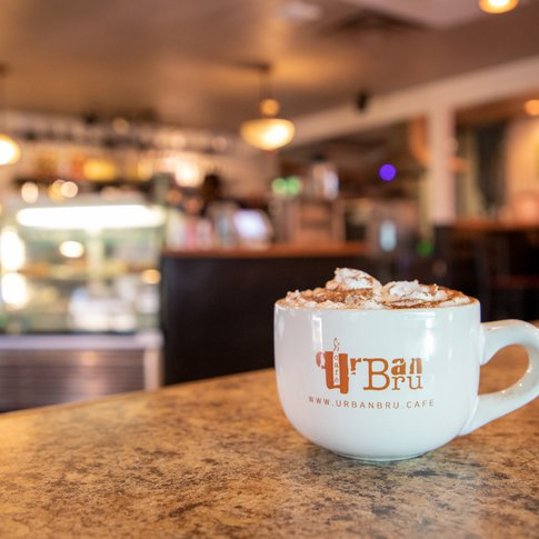 Partake in a foamy cup of coffee served at Urban Bru in Guymon.