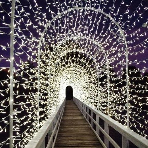 Wander through a sparkling array of lights at Chickasha Festival of Light.
