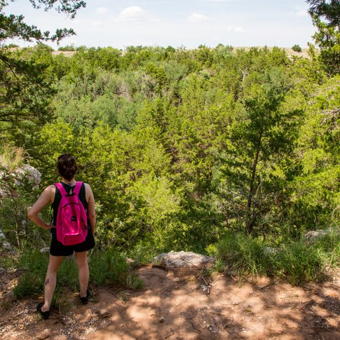 Embark on hiking trails offered at Alabaster Caverns State Park in Freedom.