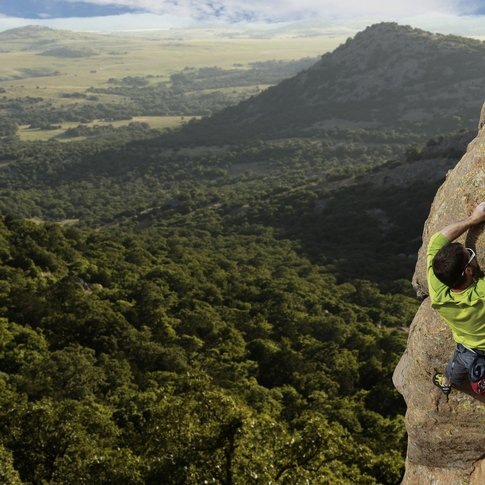 Embark on an extreme Oklahoma adventure by climbing Mount Scott in Lawton.