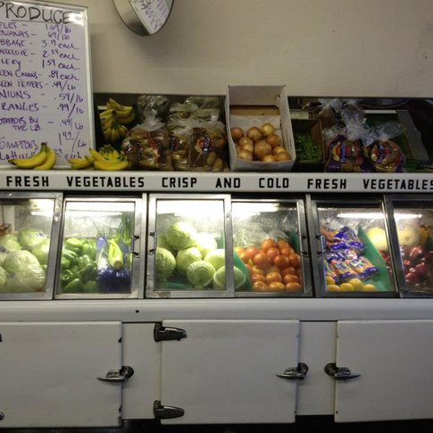 Stock up on locally-sourced produce from Outlaws Grocery and Diner in Weleetka.