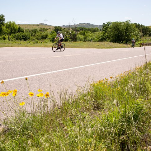 The Wichita Mountains Wildlife Refuge is a prime destination for cyclists of all levels.