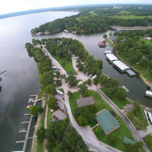 Enjoy Grand Lake with a stay at Water's Edge RV & Cabin Resort in Vinita.